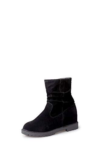 Piatto Piatto Piatto Black Donna Neve Stivali Aumento Interno da Caldi Tacco da qCwgBdxq4