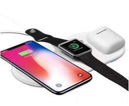 Ruishion Wireless Fast Charger Compatible with Watch Series 4/3/2/1 iPhone Xs XR Max Galaxy Note 8 Upgraded 3 in 1 Wireless Charger Pad Compatible with All Qi-Enable Devices(30W AC Adapter Included)