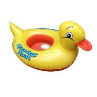 2 Pcs Twins Kids Summer Kids Baby Inflatable Pool Float Boat,Shaped Cut Yellow Duck,Inflatable Quacker Duckling Float For 0-8 Years Children