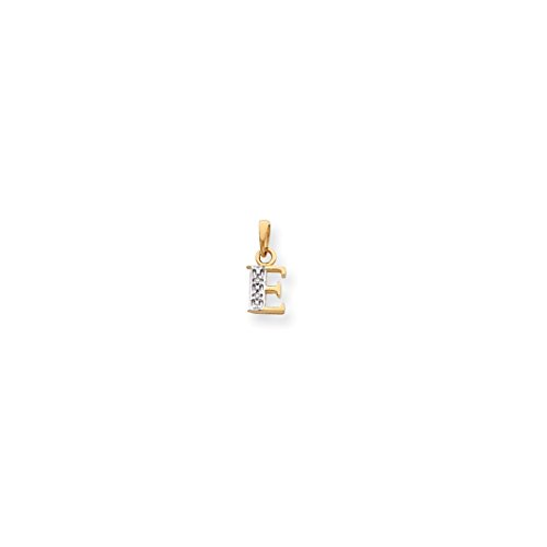 ICE CARATS 14kt Yellow Gold .01ct Diamond Initial Monogram Name Letter E Pendant Charm Necklace Fine Jewelry Ideal Gifts For Women Gift Set From Heart 14kt Gold Diamond Name Pendant