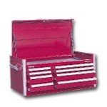 """46"""" 8-Drawer Top Chest - Red"""