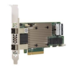 Broadcom MegaRAID 9480-8i8e - Storage controller (RAID) - 16 Channel - SATA 6Gb/s/SAS 12Gb/s low profile - 1200 MBps - RAID 0, 1, 5, 6, 10, 50, JBOD, 60 - PCIe 3.1 x 8