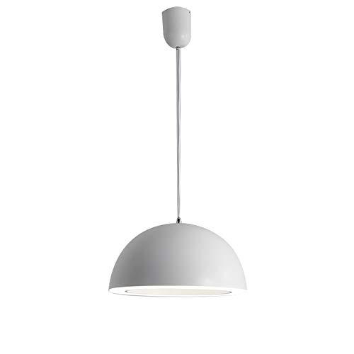 (Alamz Light 62775 Pendant Lamp, Modern and Simple Chandelier for Living Room and Bedroom, White Mental Pendant Lamp)