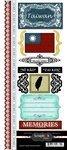 Cardstock Scrapbook Phrases Stickers - Scrapbook Customs - World Collection - Taiwan - Cardstock Stickers - Explore