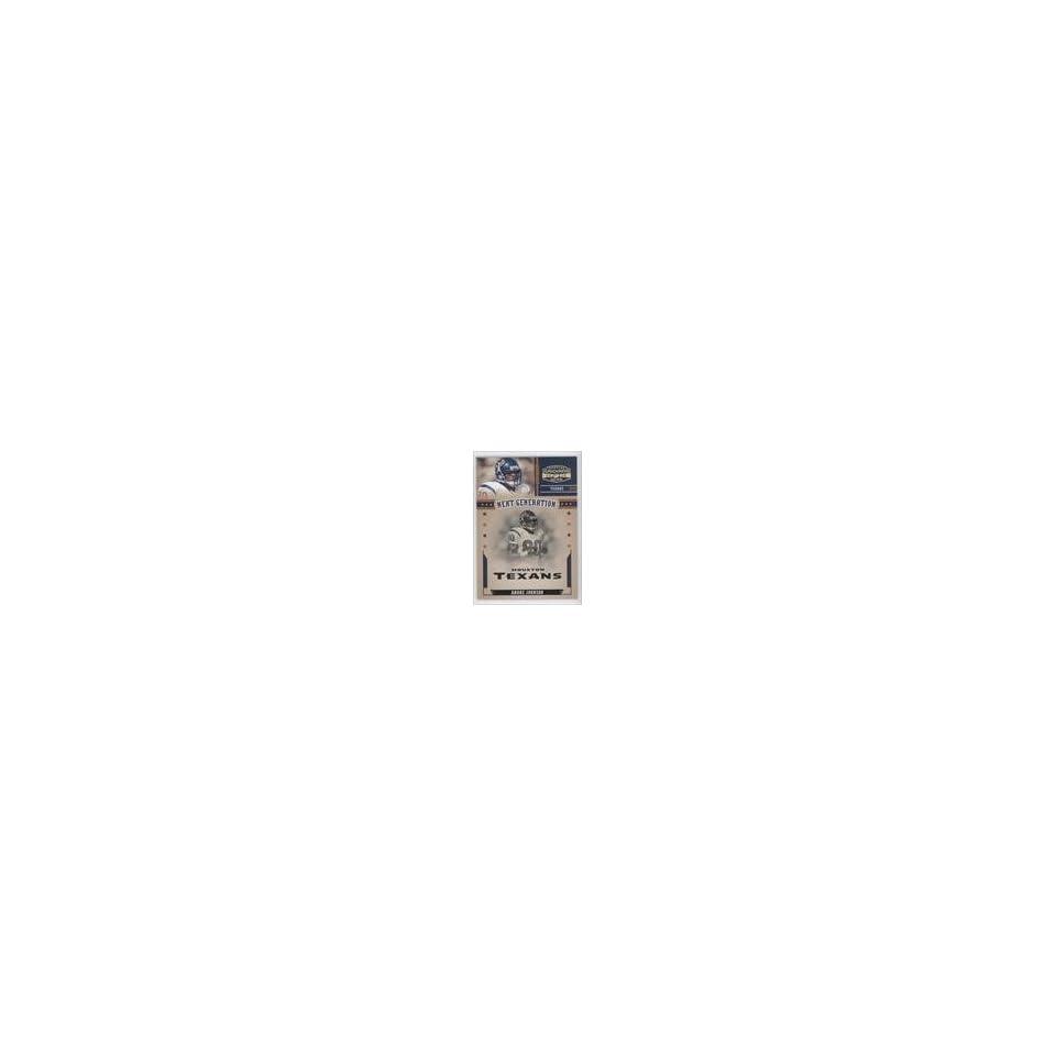 Andre Johnson #75/100 (Football Card) 2005 Donruss Gridiron Gear Next Generation Gold #NG 1