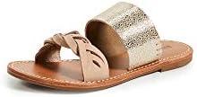 Soludos Women's Metallic Braided Slides