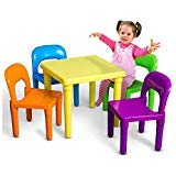 Kids Table and Chairs Play Set Toddler Child Toy Activity Furniture In-Outdoor by Unknown