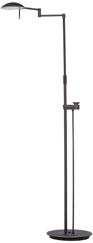 Holtkoetter 6317LEDSLD HBOB LED Floor Lamp with Side Line Dimmer, Hand-Brushed Old Bronze, 10.75