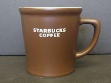 Starbucks Rich Chocolate Brown Ceramic Mug Cup with White Lo