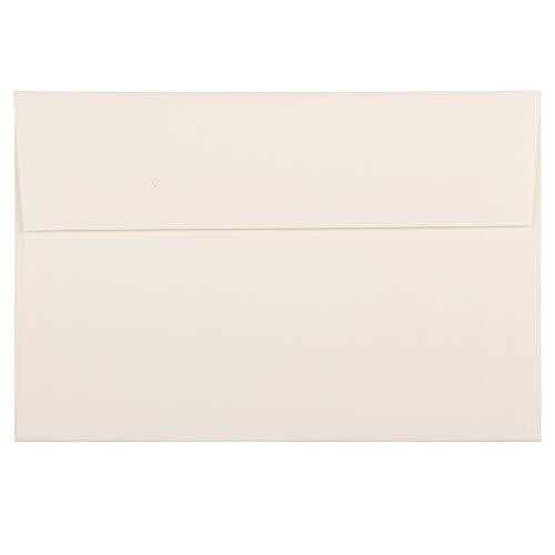 JAM PAPER A8 Strathmore Invitation Envelopes - 5 1/2 x 8 1/8 - Natural White Linen - 25/Pack (Linen Envelopes A8)