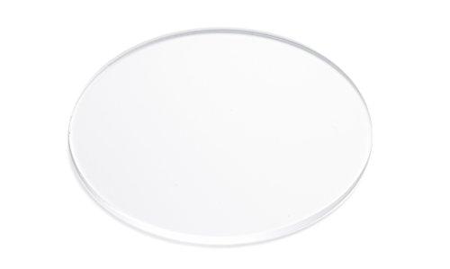 "FALKEN DESIGN Acrylic Plexiglas Lucite Disc Circle, 9"", Clear"