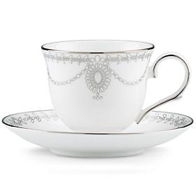 LENOX EMPIRE PEARL DW TEA CUP & SAUCER SET ()