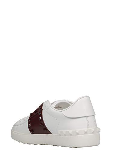 Valentino Pelle Ry2s0931ltur67 Uomo Bianco Garavani Sneakers wcppS1zxUq