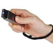 Compact Stun Gun with Simple Slide Action for Ultimate Portable Safety (silver)