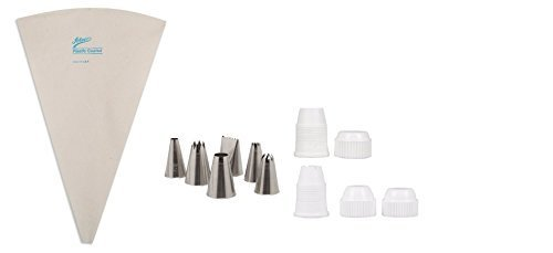 Ateco Cake Decorating Set - Couplers, Decorating Bag, and Decorating Tubes