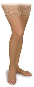 BSN Medical/Jobst H20203 Activa Sheer Therapy Stocking, Thigh High, Open Toe, Lace, 15-20 mmHg, Nude, Size C, Pair