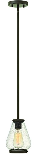 Transitional 1 Pendant Light - Hinkley 3687OZ Transitional One Light Pendant from Finley collection in Bronze/Darkfinish,