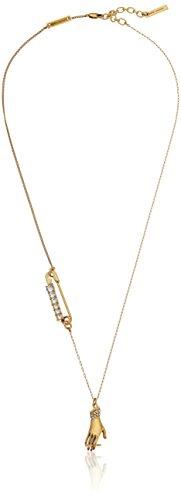 Marc Jacobs Antique Gold Charms Hand Pendant Necklace, 26