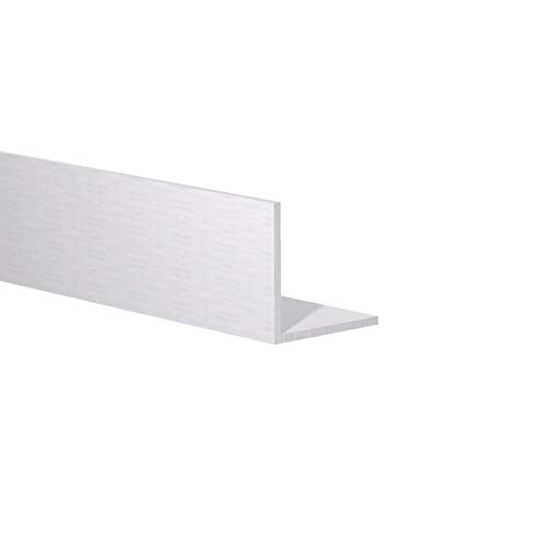 Orange Aluminum - 90 Degree Angled Extrusion - Heavy Duty Metal LShape Corner Angle Bar - Extruded Edging Trim Bracket - 1