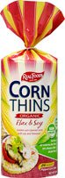 Real Foods Organic Corn Thins Flax and Soy -- 5.3 oz by Real Foods