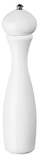 Fletchers' Mill Marsala Collection Pepper Mill, White - 12 Inch, Adjustable Coarseness Fine to Coarse, MADE IN U.S.A.
