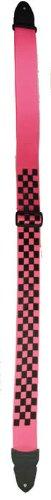 Pink Silkscreen (LM Products PS-4CKP Silk Screen Guitar Strap, Pink Checker)