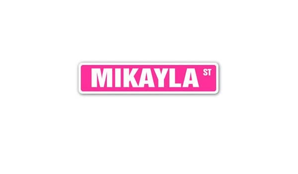 Amazon.com: MIKAYLA Street Sticker Sign name childrens room door gift kid child boy girl wall entry: Automotive