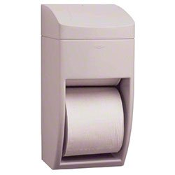 Bobrick Washroom Equipment Multi-Roll Toilet Tissue Dispenser Matrix Series Bathroom Supplies Gray - 6-1/4x13-1/2x6-7/8""