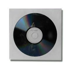 """CD DVD DuPont White Tyvek Sleeves with 4"""" Clear Window and Flap (Automated Packaging Grade) 100 Pack"""