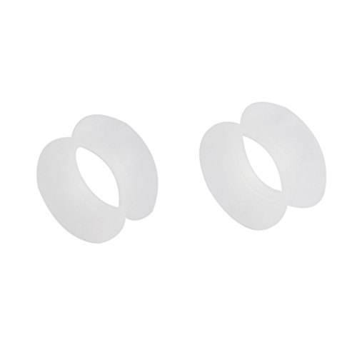 Ruifan Ultra Thin Silicone Ear Skin Flexible Flesh Tunnel Expander Stretching Gauge Earlets Plug Clear Gauges Kit 2G - 1 Pair