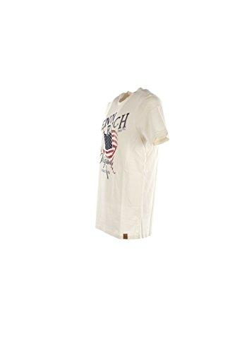T-shirt Uomo Penn-rich 2XL Bianco Wytee0351 Be60 Autunno Inverno 2016/17