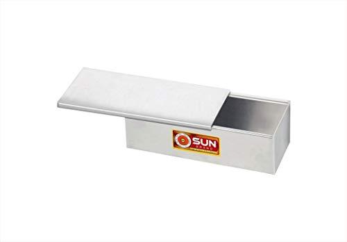 Aluminium Bread Box with sliding lid 250g – 6x3x3 Inch, Silver