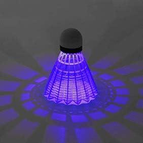 kaakaeu Lot de 4 balles de Badminton /à LED 4 Couleurs
