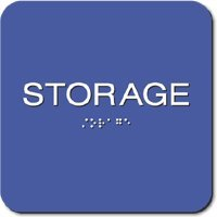 Storage room sign 6 x 6 tactile braille for Storage room sign