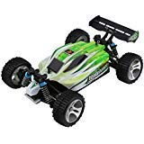 Brush Motor Racing - Blackpoolfa Upgrade WLtoys A959B High Speed 43.5mph(70km/h) Buggy Off Road RC Car | Almost Ready 1:18 4WD Racing Cars w/ 2.4G Radio Remote Control & Charger (540 Brush Motor)