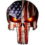 Punisher Skull American Flag Car Motorcycle Bicycle Skateboard Laptop Luggage Vinyl Sticker Graffiti - http://coolthings.us