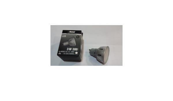 BOMBILLA LEDS MATEL GU10 3W 6400K LUZ FRIA 300LM ALUMINIO: Amazon.es: Bricolaje y herramientas