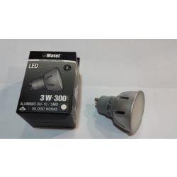 BOMBILLA LEDS MATEL GU10 3W 6400K LUZ FRIA 300LM ALUMINIO