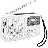 Global-store Solar Rechargable Emergency Hand Crank Powered AM/FM Radio with LED Flashlight Alerter and Cell Phone Charger