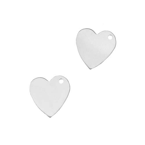 Beadaholique Sterling Silver Stamping Blank Heart Charms Jewelry Tags 10mm (2)