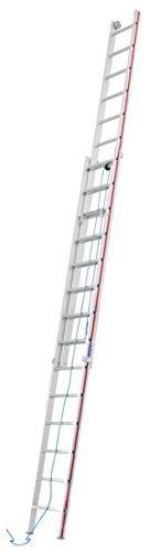 HYMER Seilzugleiter zweiteilig, 2x14 Sprossen, 405128