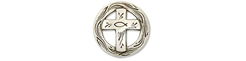"Tandy Leather Christian Cross Concho 1-1/4"" (3.2 cm) 7180-05"