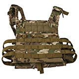 Tactical CS Field Vest Outdoor Breathable Training Protective Airsoft Vest Nylon Adjustable Gilet for Unisex Adults (Camo) ()