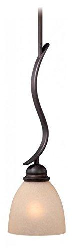 (Vaxcel USA ALPDD060OBB Avalon 1 Light Transitional Mini Pendant Lighting Fixture in Bronze,)
