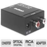 Inveo I14-42277 Audio Converter - Analog Rca R And L Audio To Optical Digital Toslink