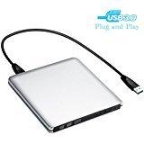 PC Hardware : External CD DVD Drive, MMUSC USB 3.0 Slim Protable External CD-RW Drive DVD-RW Burner Writer Player for Laptop Desktops Windows Mac OSX