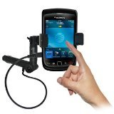 Amzer AMZ93529 Lighter Socket Phone Mount with Charging and Case System for BlackBerry Torch 9800, BlackBerry Torch 9810-Mount, Retail Packaging (Black)