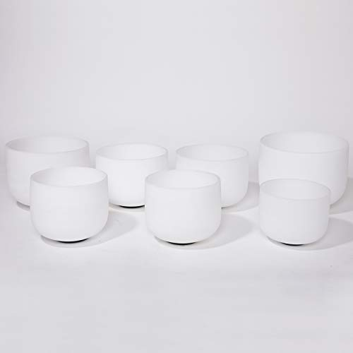 CVNC Set Of 7 PCS Frosted Quartz Crystal Singing Bowls 6