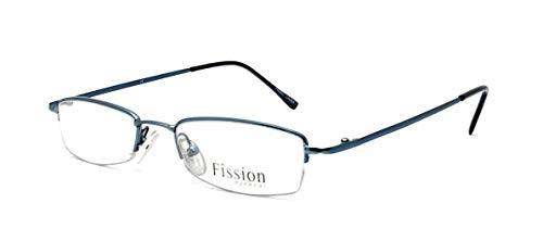 New Fission 012 Eyeglasses|Clear Lens|Metal Frame|Size:49-18-135|Prescription Rx Eyewear ()