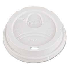 Dixie Dome Drink-Thru Lids, Fits 12 oz. & 16 oz. Paper Hot Cups, White, 100/Pack